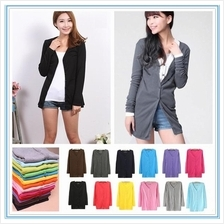 Medium Long Cotton Knitted Cardigan)