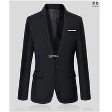 Men Coat- casual Slim thin suit- Black