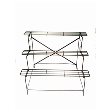 ANTIQUE COLOR THREE TIER LAYERS FLOWER IRON STAND DIY AE-113HT