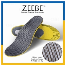 ZEEBE 1 Pair Foot Cushion Arch Support Shoe Insole Bamboo Charcoal
