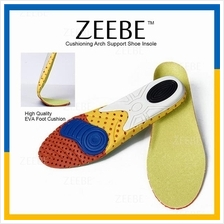 ZEEBE 1 Pair Foot Cushion Arch Support Shoe Insole Shock Absorber