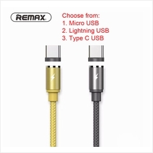 Remax Gravity Magnetic Magnet Cable Micro Lightning Type C USB LED Lig