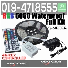RGB 5050 Waterproof LED Strip 300LED 5m + 44Key Remote 5A Adapter