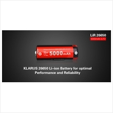 Klarus 26650 Li-ion 5000mAh Protection Rechargeable Battery Free Case