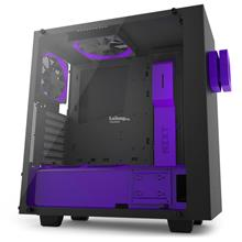 NZXT S340 ELITE PURPLE EDITION TEMPERED GLASS CHASSIS (PURPLE/BLACK)