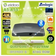 ZIDOO A5 A5S S905X Quad Core 1GB 2GB RAM 8GB 16GB ROM Android 6 TV BOX