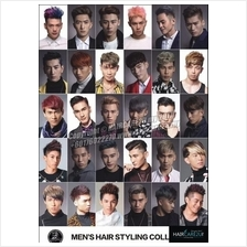 W9 Korean Style Men Hair Barber Poster