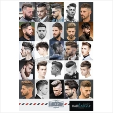 European Western Style Men Hair Barber Poster