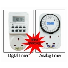 SUM 24 Hours Digital/Analog 3 Pin Plug In Timer (With Sirim Approval)