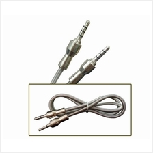 High Speed Metal Braided Aux Stereo Audio Cable 0.65M