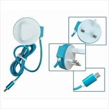 Colorful 2.4A Fast Charging Travel Charger For Android/Micro USB Phone