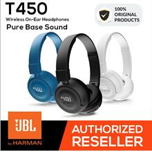 JBL T450 On-Ear Headphones Headset Powerful Bass Earphone Original