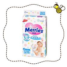 Merries Tape Diapers Size L (54 pieces / pack)