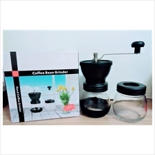 Adjustable Manual Ceramic Mill Coffee Grinder FREE Bean Canister
