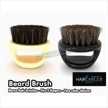 Barbershop Black Coarse Horse Bristle Knuckle Fade Brush