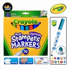 Crayola Expressions 10 Washable Mini Stampers Markers
