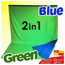 2-sided 2in1 Blue Green Double Side Backdrop Cloth Photo Studio Curtai