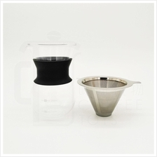 Eco Coffee Dripper Coffee Maker with Stainless Steel Reusable Filter