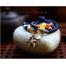 YN-6002	Kyanite DIY multi-layer bracelet  蓝晶石DIY&..