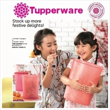 Tupperware Blooming Tall Canister 10.0L - 2pcs (Emberglow and Salmon)