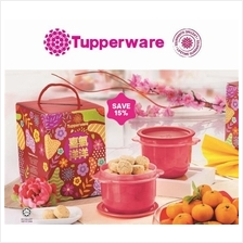 Tupperware Blooming CNY Cookies Gift Set 750ml - 2 pcs One Touch and C