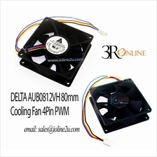 Delta 12V 0.41A AUB0812VH Cooling Fan 80*80mm*25mm 42cfm 8cm Superflo