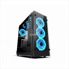AIGO ATLANTIS ATX TEMPERED GLASS MID TOWER CHASSIS