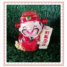 H 10 CM Chinese God Of Wealth Cai Shen Ye 财神爷 E