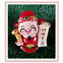 H 10 CM Chinese God Of Wealth Cai Shen Ye 财神爷 G