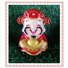 H 10 CM Chinese God Of Wealth Cai Shen Ye 财神爷 H