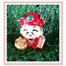 H 5.5 CM Chinese God Of Wealth Cai Shen Ye 财神爷 B