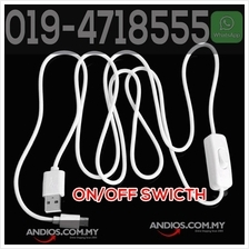 USB to Micro USB Power Switch Cord On/Off Switch 1meter for mini studi