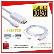 Mini Display Port to HDMI Converter Cable 1.8 for Macs Apple