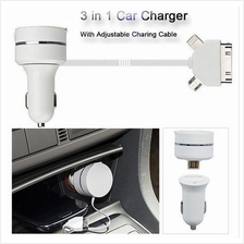 LEMAR Android iPhone 3 IN 1 In Car USB Charger Promotion Ready Stcok