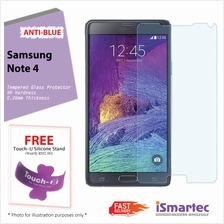 Samsung Galaxy Note 4 N910F Anti-Blue Tempered Glass Protector 0.26mm ..