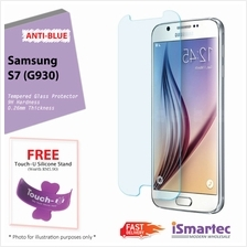 Samsung Galaxy S7 G930 Anti-Blue Tempered Glass Protector 0.26mm + 9H ..