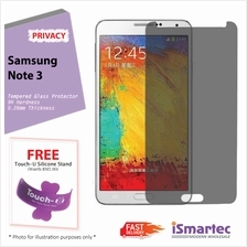 Samsung Galaxy Note 3 N7500 Privacy Tempered Glass Protector 0.26mm + ..
