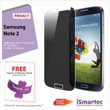 Samsung Galaxy Note 2 N7100 Privacy Tempered Glass Protector 0.26mm + ..