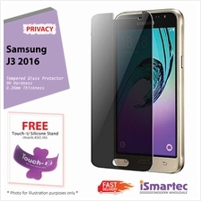 Samsung Galaxy J3 (2016) J320F Privacy Tempered Glass Protector 0.26mm..