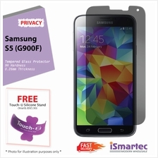 Samsung Galaxy S5 G900F Privacy Tempered Glass Protector 0.26mm + 9H H..