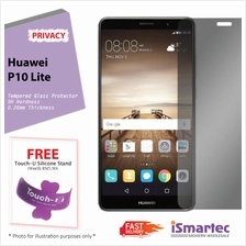 Huawei P10 Lite Privacy Tempered Glass Protector 0.26mm + 9H Hardness ..