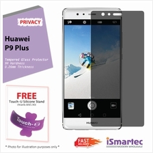 Huawei P9 Plus Privacy Tempered Glass Protector 0.26mm + 9H Hardness (..
