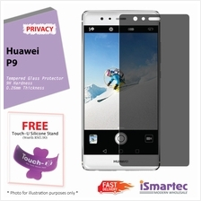 Huawei P9 Privacy Tempered Glass Protector 0.26mm + 9H Hardness (Priva..