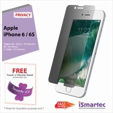 Apple iPhone 6 / iPhone 6s Privacy Tempered Glass Protector 0.26mm + 9..