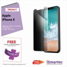 Apple iPhone X Privacy Tempered Glass Protector 0.26mm + 9H Hardness (..