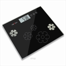 HETCH 1.7cm Ultra Slim Body Fat/Hydration (Black + Grey) Monitor Scale