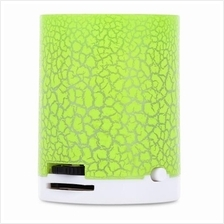 PORTABLE FLASH LED LIGHT CRACK PATTERN SUPPORT TF CARD MP3 MUSIC PLAYE