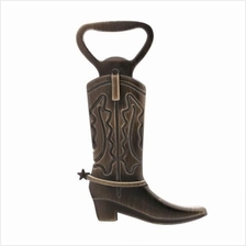 ANTIQUE BRONZE COWBOY BOOT DESIGN BEER BOTTLE OPENER (BRONZE-COLORED)