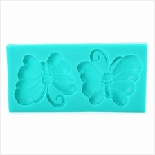 DIY SILICONE BUTTERFLY MOLD FONDANT CAKE DECORATING TOOL DECORATION (O
