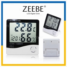 ZEEBE LCD Electronic Temperature Humidity Thermometer Digital Clock